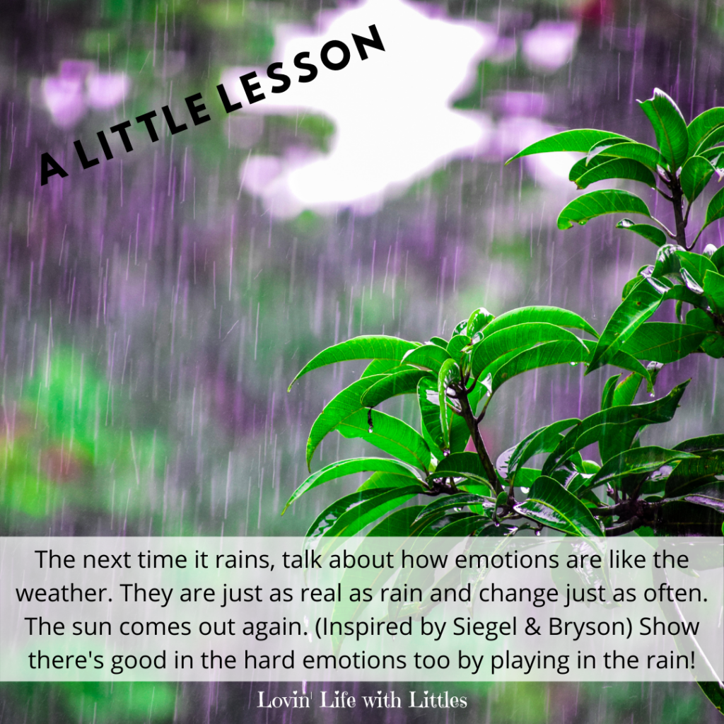 We can teach a simple lesson about optimism for kids by taking advantage of the next rain storm. Click through for details and other great ideas for a stronger, happier family on www.lovinlifewithlittles.com. #teachingkids #intentionalparenting #parentingtips #teachingoptimism #howtoteachkidsoptimism